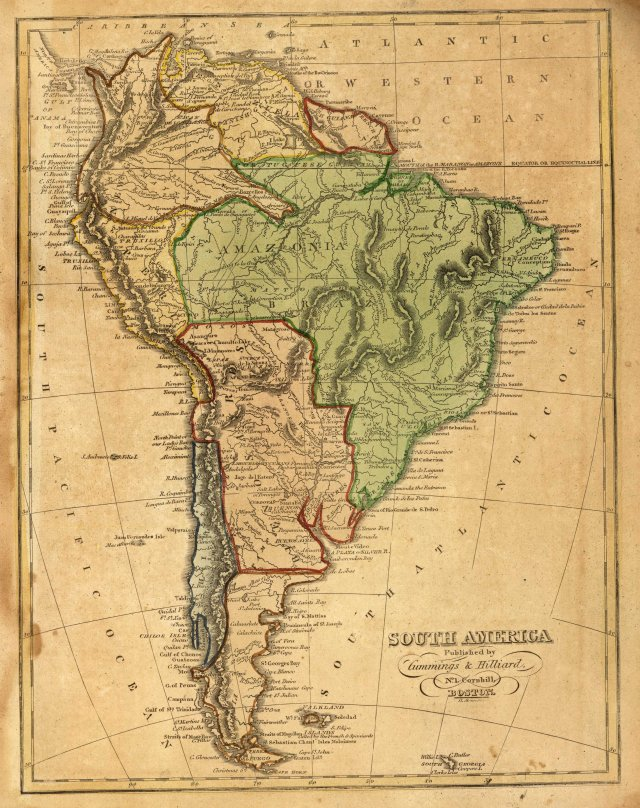 South America 1821 (public domain: Wikimedia Commons)