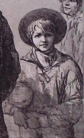 Man of War's men (sketch by George Thomas) detail 1854