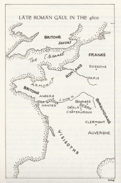 Map by Ty Grey in The Discovery of King Arthur 1985