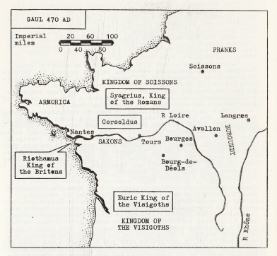 Map in Pendragon for Speculum review, 1981