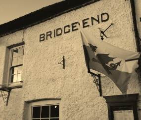 Bridge End Inn, Crickhowell, adjacent to the toll house by the bridge
