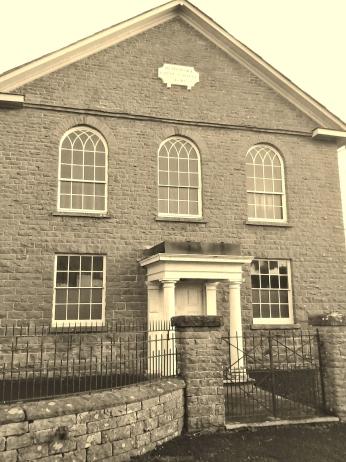 Bethabara Baptist Chapel at the lower end of Bridge Street, Crickhowell, built 1840