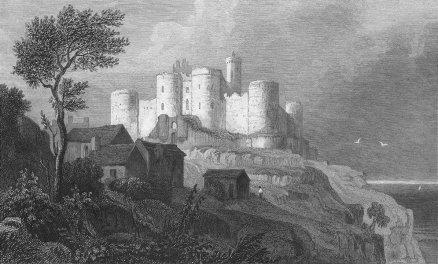 Harlech Castle (1831) by Henry Gastineau